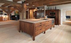 Dinesen Douglasie Dielenboden in spektakulärer Küche (10)