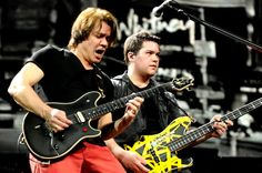 Rocker Eddie Van Halen with son Wolfgang Van Halen (seriously cool name) #VanHalen #wolfgang