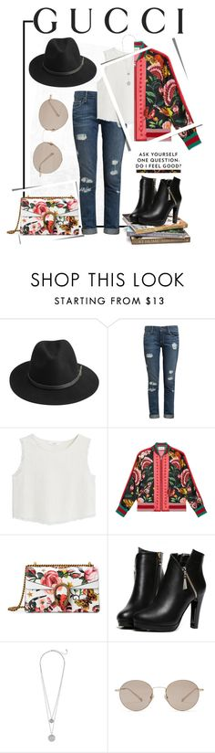 """""""Presenting the Gucci Garden Exclusive Collection: Contest Entry"""" by bruushh ❤ liked on Polyvore featuring Gucci, BeckSöndergaard, Paige Denim, MANGO, WithChic and gucci"""