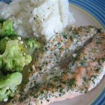 Main Dish Fish and Shellfish: Poached Salmon II