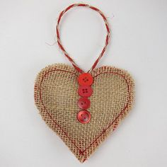 Free Burlap Crafts | Little Burlap Love | AllFreeHolidayCrafts.com