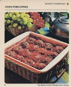 Retro Recipe: Porcupine Meatballs | Food For Thought I made these before and they are so good but i lost the recipe and this is the same one i used to have.