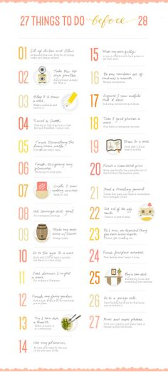 27 things to do before 28