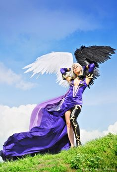 """Ah My Goddess"" by Ukrainian cosplayer Narven. I like the wings/good vs. evil"