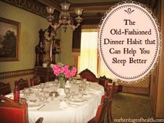 The old-fashioned dinner habit that can help you sleep better