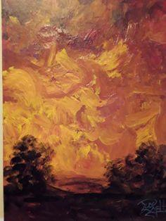 Sundown  acrylic art original painti  Jim Smeltz w/ ACEO  #Impressionism