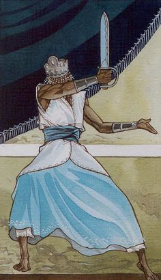 Page of Swords - Afro-Brazilian Tarot by Giuceppe Palumbo