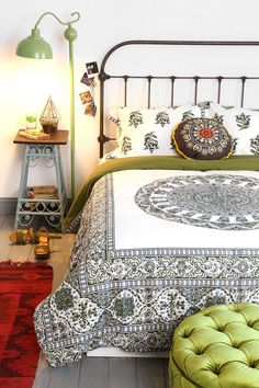 Love this decor....Magical Thinking Temple Medallion Duvet Cover
