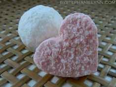 Under The Table and Dreaming: Semi Handmade Valentine's Day Heart Soaps {How to Make Fun Soap Balls}