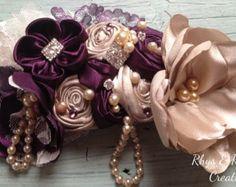 rose gold blush and aubergine wedding - Google Search