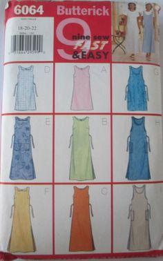 Butterick 6064  Plus Size Jumper Dress Pattern B 40 by Denisecraft, $5.99