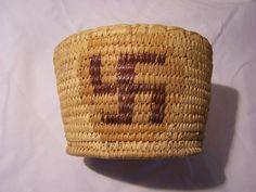 Antique Native American Indian Polychrome Basket Panamint Papago Arizona | eBay