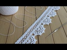 Lace Knitting Patterns, Crochet Lace, Baby Knitting, Lace Trim, Crochet Necklace, Cross Stitch, Projects, Easter Crafts, Dish Towels