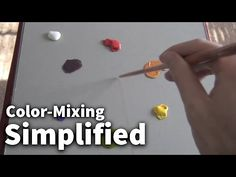 Color-Mixing Simplified #01 - Acrylic & Oil Painting Lesson - YouTube