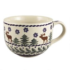 Polish Pottery Soup Mug | Christmas Tree Shops andThat! 16oz $4.99