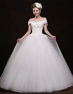 Ball Gown Off-the-shoulder Floor-length Wedding Dress Get awesome discounts up to 70% Off at Light in the Box with coupon and Promo Codes.