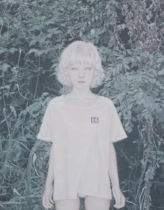 "paribanou: "" Marmotte No. 3 by Yong Sung Heo, "" Dark Fantasy, Modelo Albino, Korean Colors, Arte Horror, Beauty Magazine, Pop Surrealism, Korean Artist, Dark Beauty, Soft Grunge"