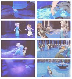 Some things never change... ELSA, OLAF, AND ANNA SKATING TOGETHER AT THE BEGINNING AND THE END- HOW DID I NOT NOTICE THAT???