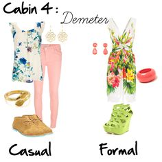 """Cabin 4: Demeter"" by idmiliris on Polyvore"