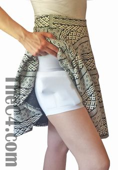 Wear these shorts under dresses and skirts for concealed carry, or during a… not necessarily a gun