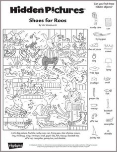 hidden pictures printable highlights teachers toolbox picture puzzles - Printable Pages Puzzles For Kids, Worksheets For Kids, Printable Worksheets, Printable Coloring Pages, Free Printables, Hidden Object Puzzles, Hidden Picture Puzzles, Hidden Picture Games, Colouring Pages