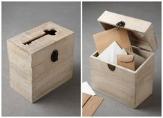 Wood Card Box