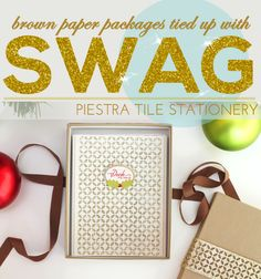 Brown Paper Swag: Piestra Tile Boxed Stationery Set