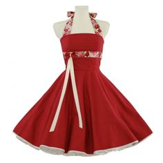 38d8d793e1e3 rotes Petticoat Kleid - maßgeschneidert Rot, 50er Jahre Jahrgang, 50er  Kleider, 1960er Jahre