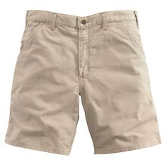 Built for comfort on warm work days. cotton ringspun canvas Sits at the waist Full seat and thigh Left-leg hammer loop and ruler pocket Right-leg welt pocket for cell phone or tools Carhartt Workwear, Mens Cotton Shorts, Work Shorts, Fake Tan, Work Wear, Bermuda Shorts, Clothes, Welt Pocket, Things To Sell
