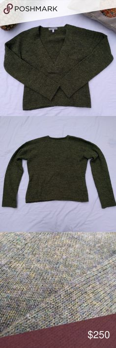 Emporio Armani Green V-Neck Sweater *Emporio Armani Green V-Neck Sweater *50% Shetland Wool, 50% Acrylic *Used, great condition  Please feel free to make an offer or ask questions! Emporio Armani Sweaters V-Necks