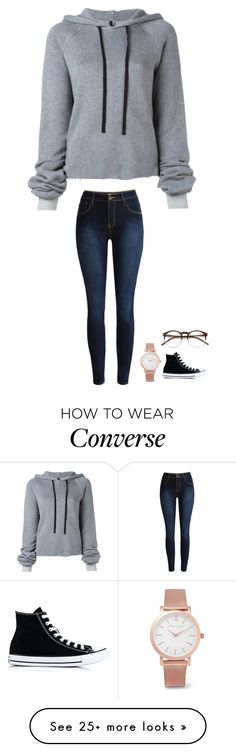 """ugh"" by jasmine2001 on Polyvore featuring Unravel, Wildfox, Larsson & Jennings and Converse"