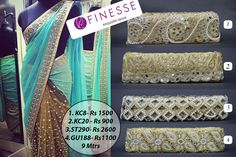 Shop online at www.finesse.in or visit our shop only at #TNagar #Laces #Borders #FinesseLaces #Embellishments #Indianfashion #Partywear #Flaunt #Designer