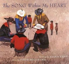 The Song Within My Heart by Dave Bouchard: A young First Nations boy is preparing for his first pow-wow. His beloved grandmother guides him through the events of the day and helps him to understand what the singing and dancing are about. Aboriginal Children, Notice And Note, Heart Painting, Sweet Stories, Canadian Art, Young Boys, First Nations, Book Recommendations, Boys Who