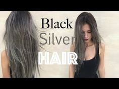 How to: Black Roots Silver Grey Hair   Stella - YouTube