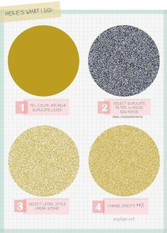 How to create glitter. | 21 Incredibly Simple Photoshop Hacks Everyone Should Know -- I should just start a Photoshop Pin Board.- w