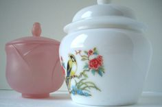 Vintage Avon Dresser Jars 1965 by jpcountrymarket on Etsy, $16.00