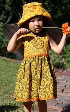 Qhakaza 'Bright and Colourful' by JenniDezigns on Etsy Girls Dresses, Summer Dresses, African Print Dresses, Kids Wear, Fashion Prints, African Fashion, Hipster, Bright, Trending Outfits