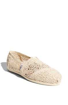 crochet slip on TOMS