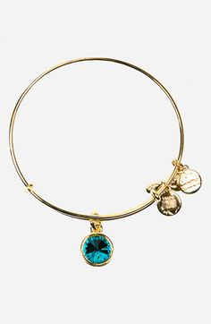 Alex and Ani Birthstone Expandable Wire Bangle available at #Nordstrom $28 December Blue Zircon
