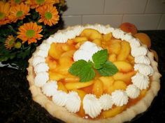 Fresh Peach Pie-this one uses fresh peaches and peach jello-slightly different from your traditional peach pie
