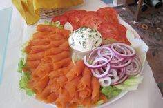 bridal shower - smoked salmon platter