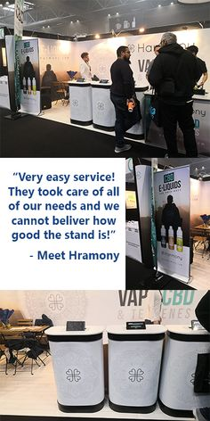 Linked Pop Up System for Meet Harmony at the Vape Expo UK Expo Stand, Exhibition Stand Design, Free Quotes, Popup, Vape, Cards Against Humanity, Meet, Smoke, Exhibition Stall Design