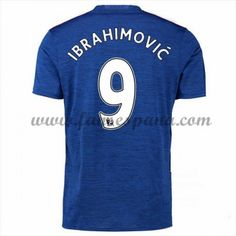 Camisetas De Futbol Manchester United Zlatan Ibrahimovic Segunda Equipación 2016-17