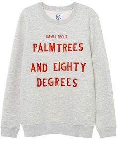 PALMTREES AND EIGHTY DEGREES LOOSE FIT SWEAT | Zoe Karssen
