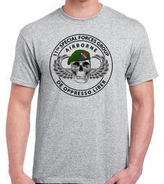 11th Special Forces Group http://proartshirts.com/products/11th-special-forces-group-t-shirt-0530 #specialforces #sf #11th #skull #greenberet #tshirt