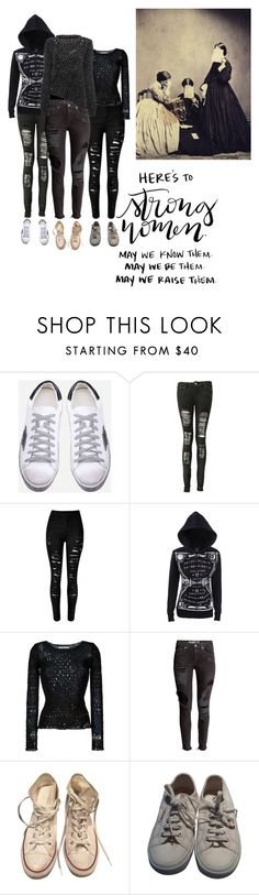 """""""Untitled #225"""" by mermaid-nielsine ❤ liked on Polyvore featuring WithChic, Boohoo, Maison Margiela, Converse, Superga, squad, witch and girlgang"""