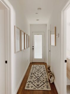 our simple hallway makeover – almost makes perfect modern hallway Narrow Hallway Decorating, Hallway Ideas Entrance Narrow, Modern Hallway, Entryway Ideas, Corridor Ideas, Flat Hallway Ideas, Narrow Entryway, Entry Hallway, Foyer Decorating