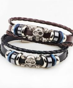 Jewelry & Accessories Pu Leather Bracelet With Anchor Shape Clasp Leather Mens Bracelet Factory Direct Selling Price