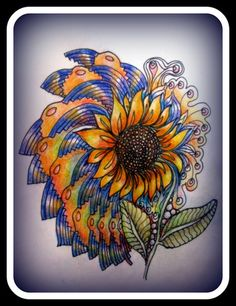 Love the vivid colors and that it is a Sunflower.........................................