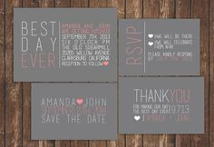 Hey, I found this really awesome Etsy listing at https://www.etsy.com/listing/160932183/best-day-ever-modern-wedding-invitation